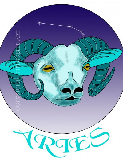 Aries with constellation