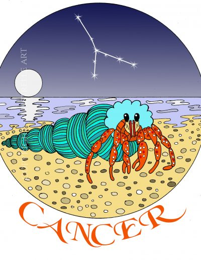 Cancer the Crab with constellation