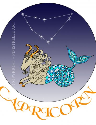 Capricorn with constellation