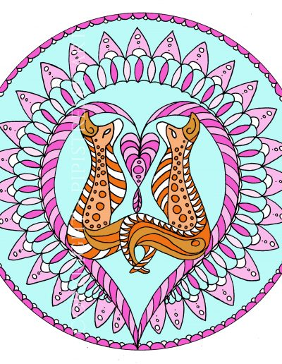 Foxy Mandala. My love of foxes in a Mandala style