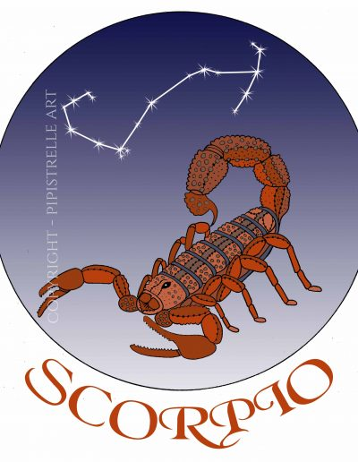 Scorpio with constellation